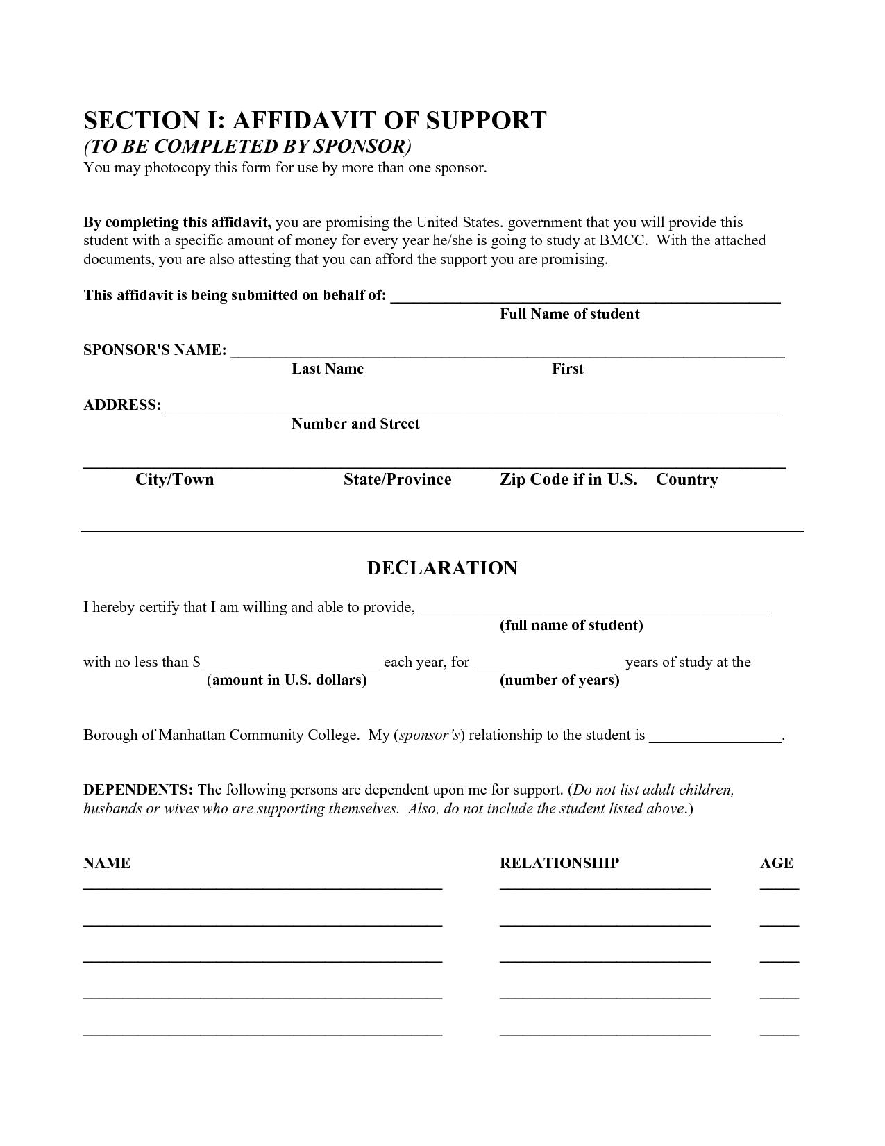 Free Affidavit Formbeunaventuralongjas - Affidavit Templates - Free Printable Legal Documents Forms