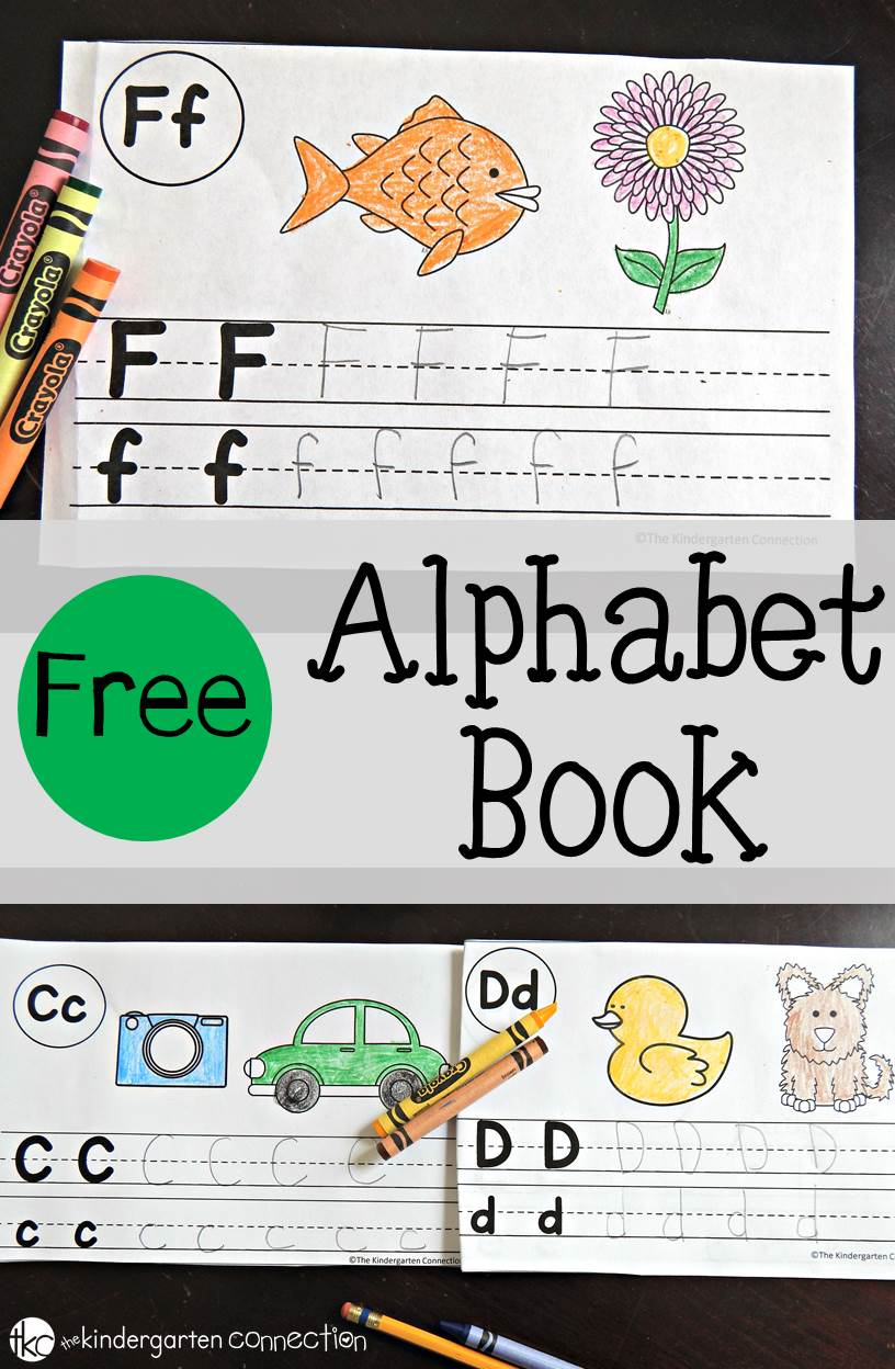 Free Alphabet Book - The Kindergarten Connection - Free Printable Books For Kindergarten