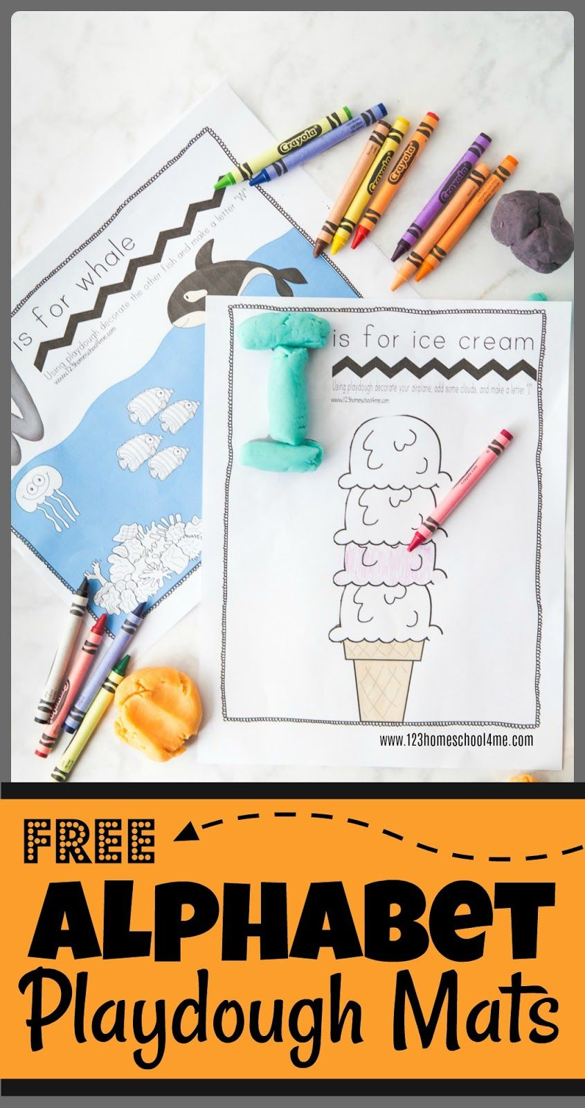 Free Alphabet Playdough Mats | Teach For The Future | Pinterest - Alphabet Playdough Mats Free Printable