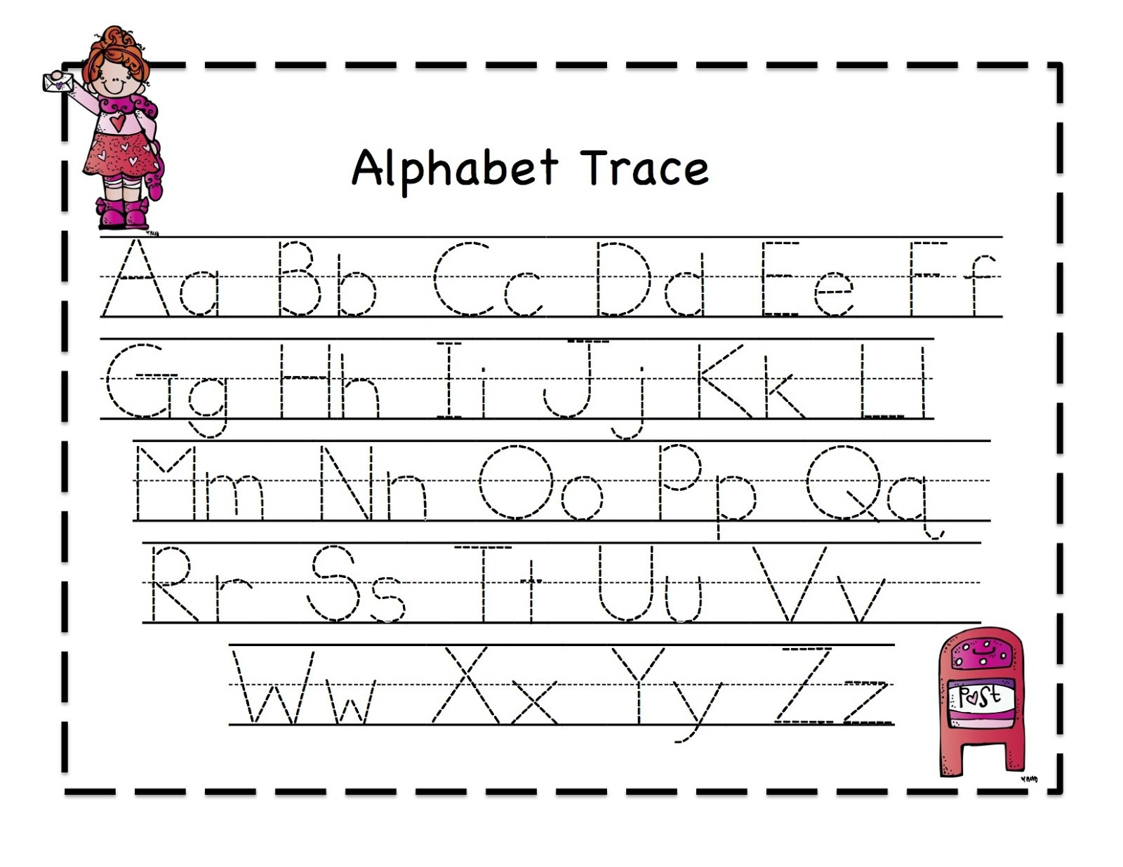 Free Alphabet Tracing Worksheets Free Printable Preschool Worksheets - Free Printable Tracing Alphabet Worksheets
