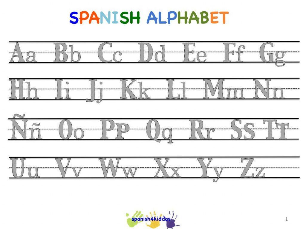 Free Alphabet Worksheets In Spanish #502066 - Myscres Throughout - Free Printable Spanish Alphabet Worksheets