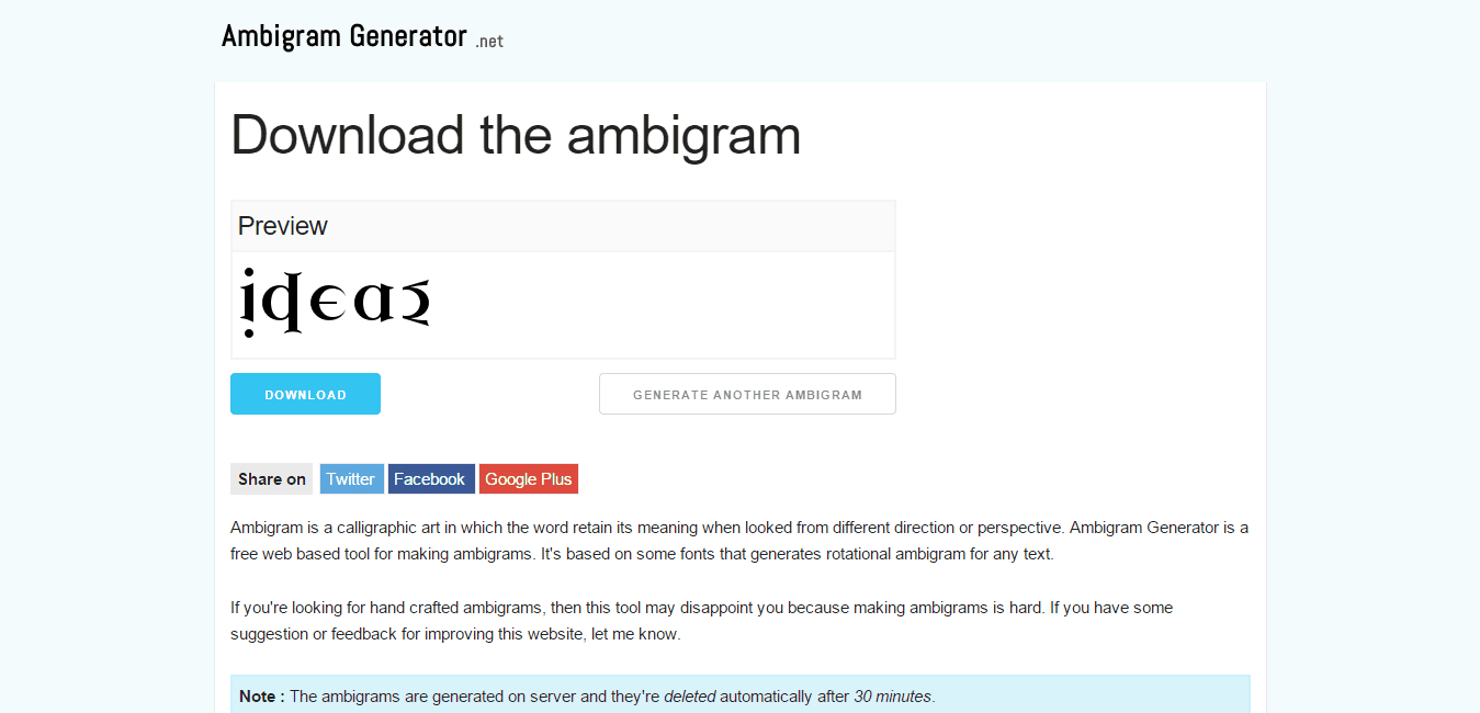 Free Ambigram Generators Online (Plus Creative Example Designs) - Ambigram Generator Free Printable
