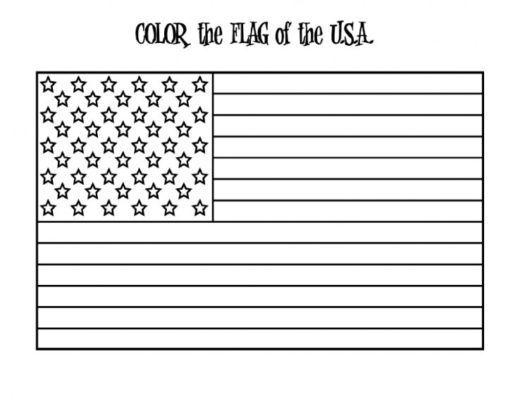 Free Printable American Flag Coloring Page
