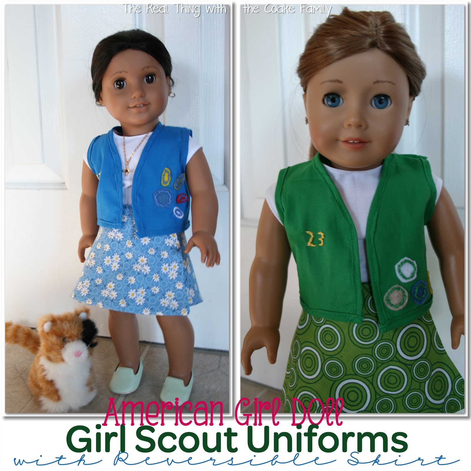 Free American Girl Doll Patterns: Girl Scout Uniform - American Girl Doll Clothes Patterns Free Printable