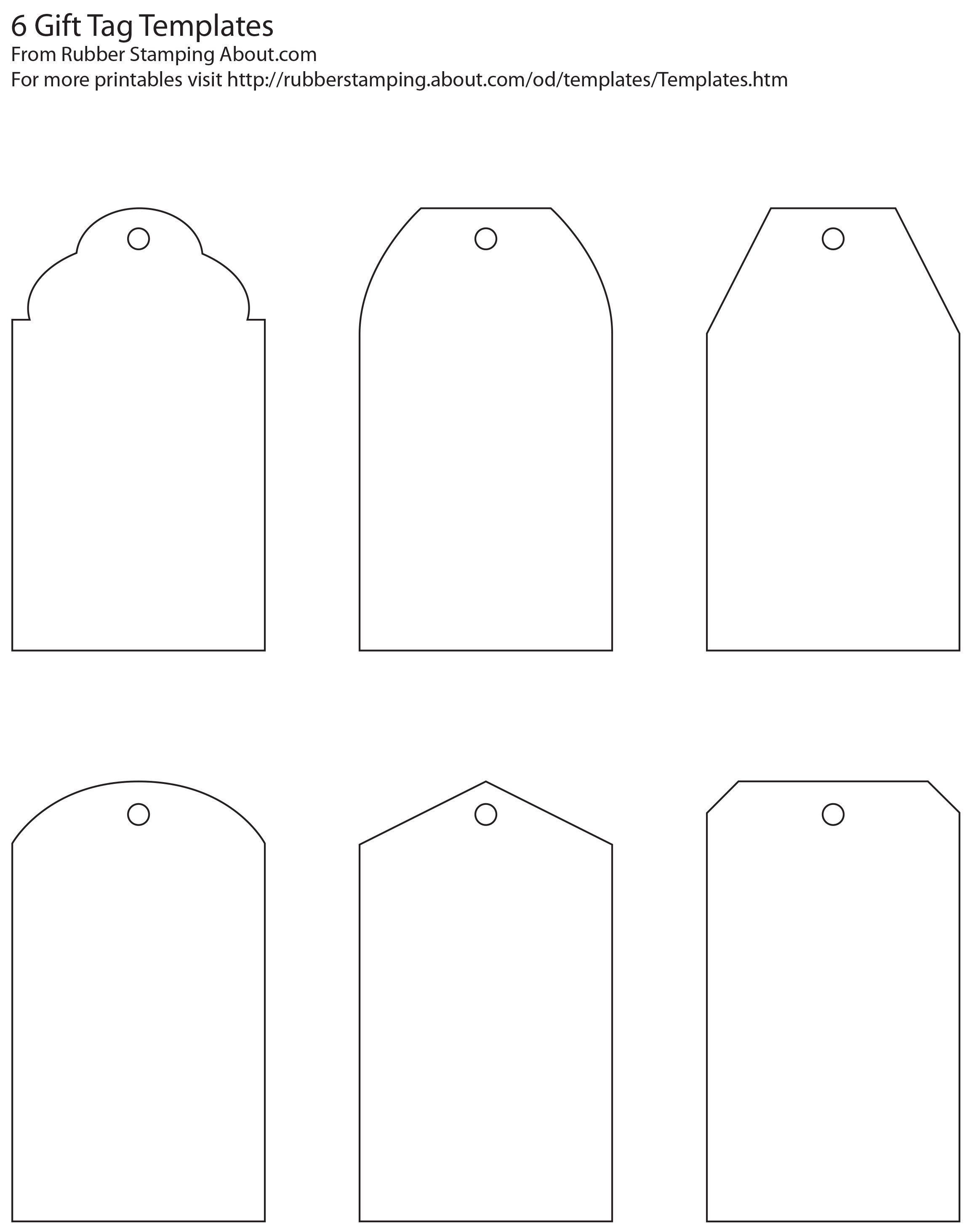 Free And Whimsical Printable Gift Tag Templates | Great Idea - Free Printable Customizable Gift Tags