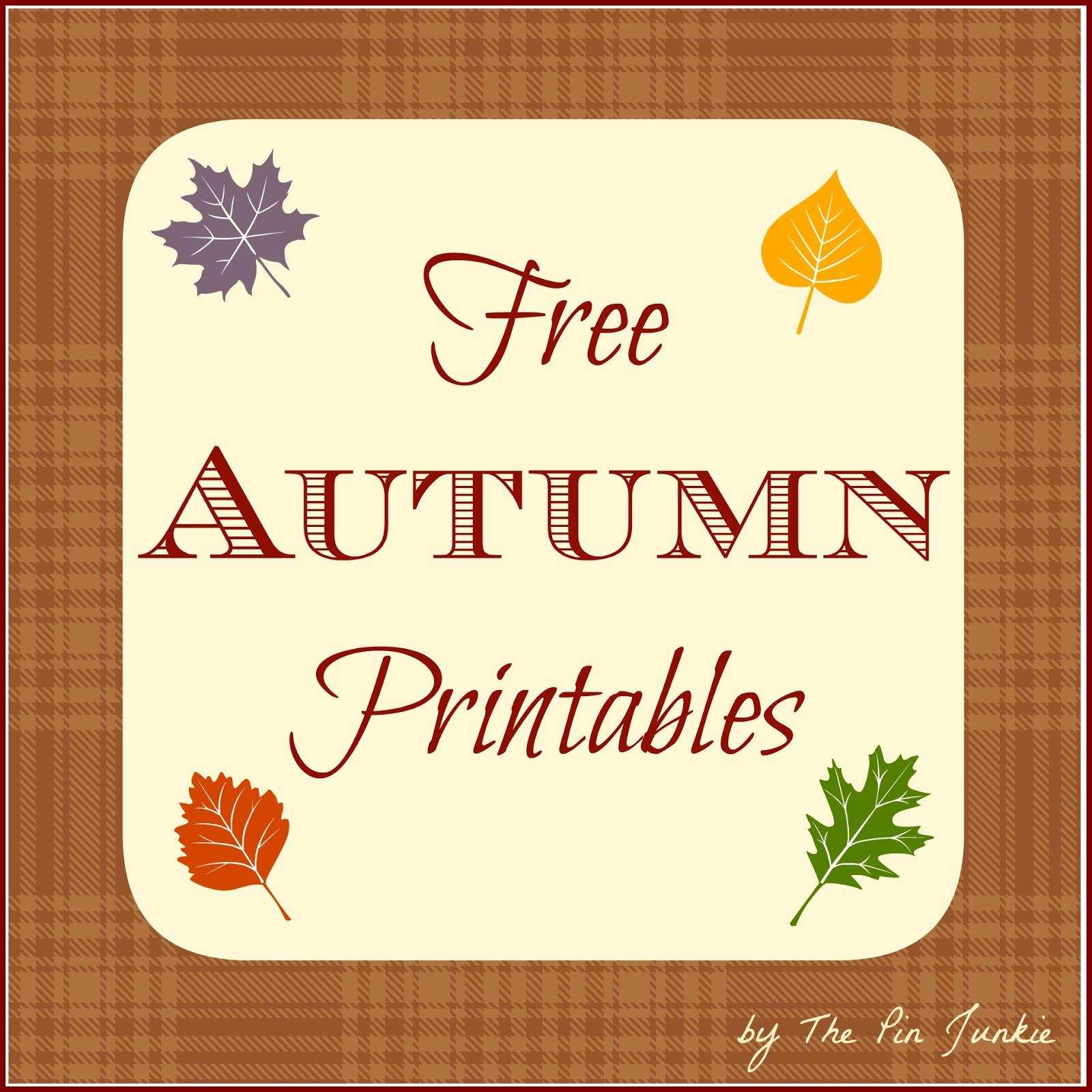 Free Autumn Printables - Free Printable Autumn Paper
