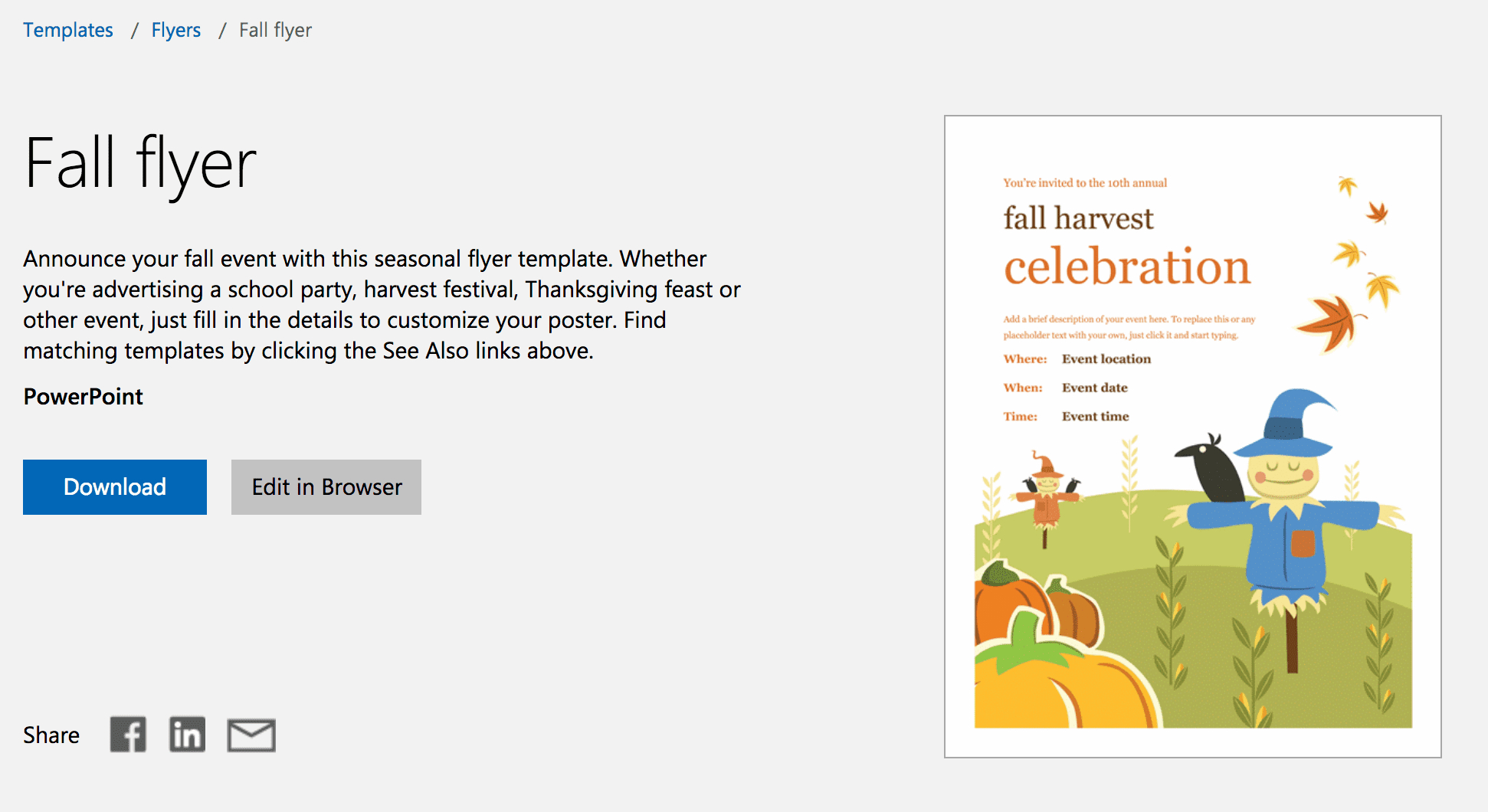 Free Autumn Theme Templates For Microsoft Office - Free Printable Fall Flyer Templates