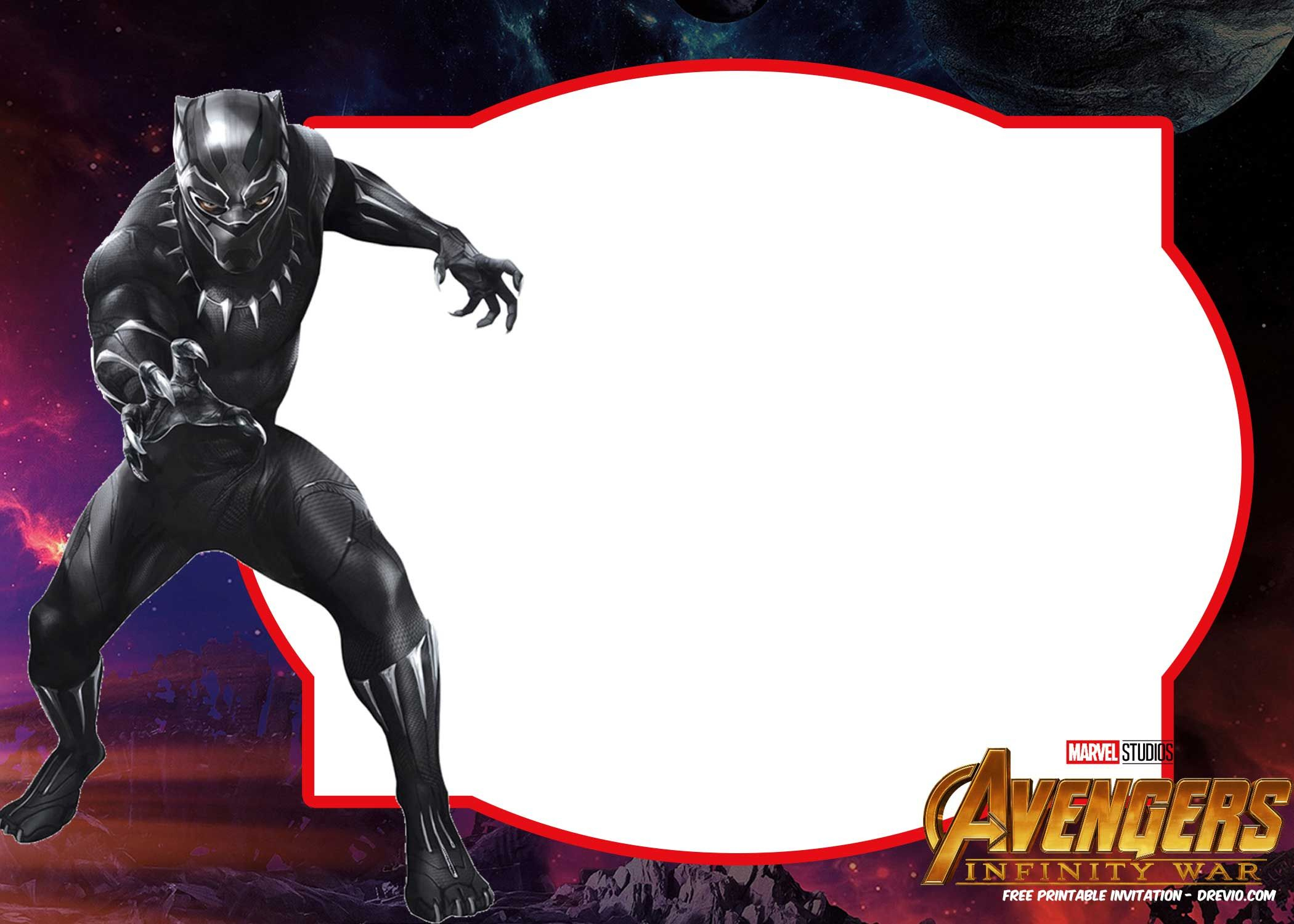 Free Avengers Infinity Wars Birthday Invitation Templates – All - Free Printable Avengers Birthday Party Invitations