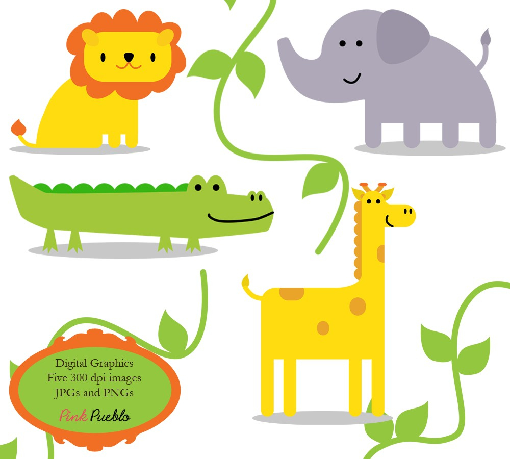 Free Baby Jungle Animals Clipart, Download Free Clip Art, Free Clip - Free Printable Baby Jungle Animal Clipart