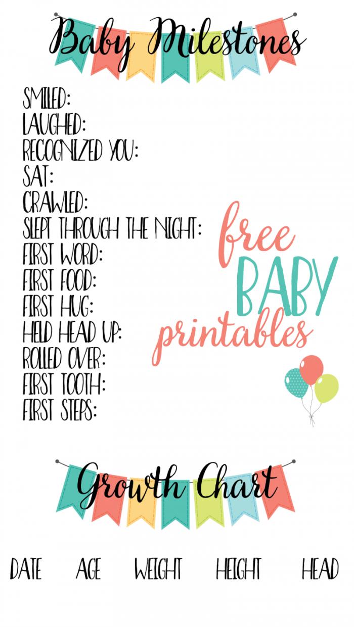 Free Baby Printables: Track Milestones | >> Free Printables - Free Printable Baby Journal Pages