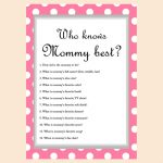 Free Baby Shower Game   Who Knows Mommy Best | Seuntjie Babyshower   Free Printable Baby Shower Games Who Knows Mommy The Best