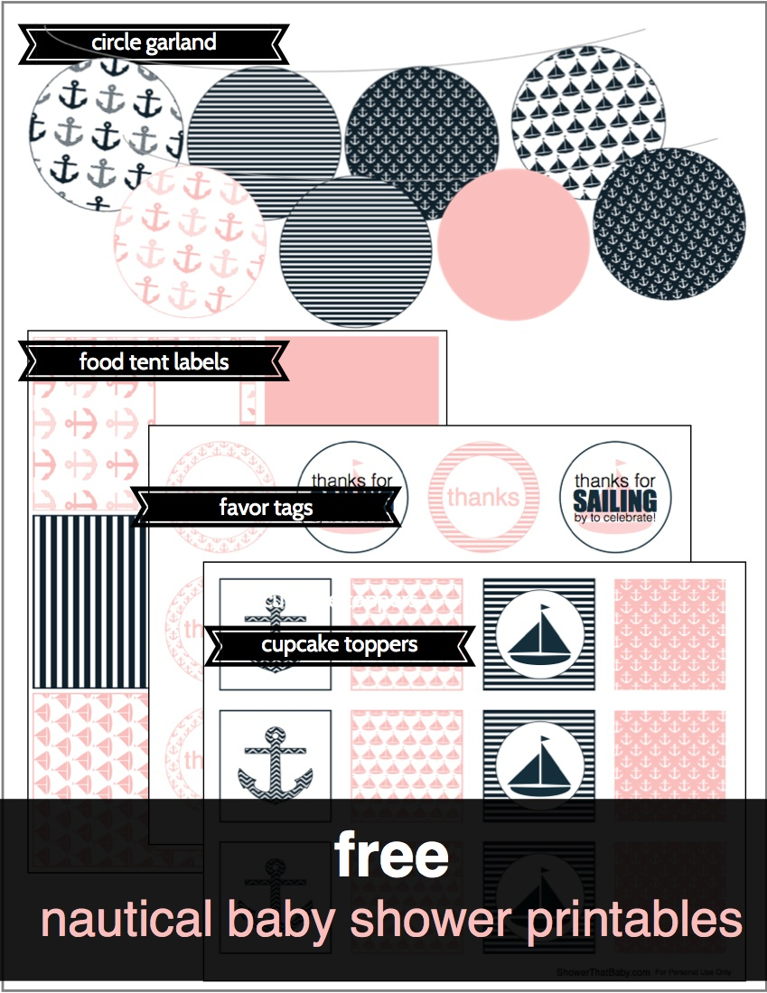 Free Baby Shower Printables   Shower That Baby - Free Printable Baby Shower Labels And Tags