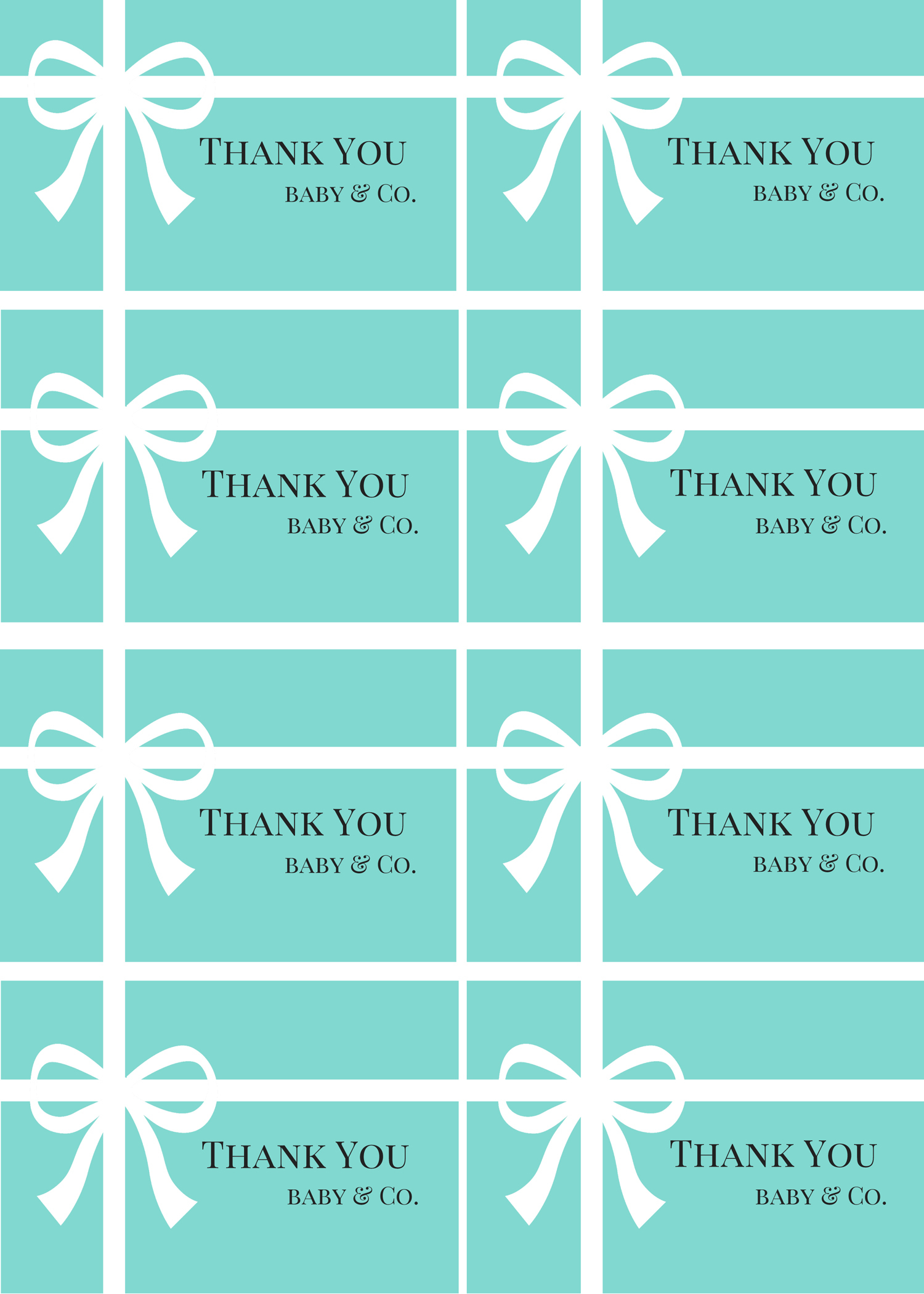 Free Baby Shower Thank You Tags Printables - Baby Shower Ideas - Free Printable Baby Shower Label Templates