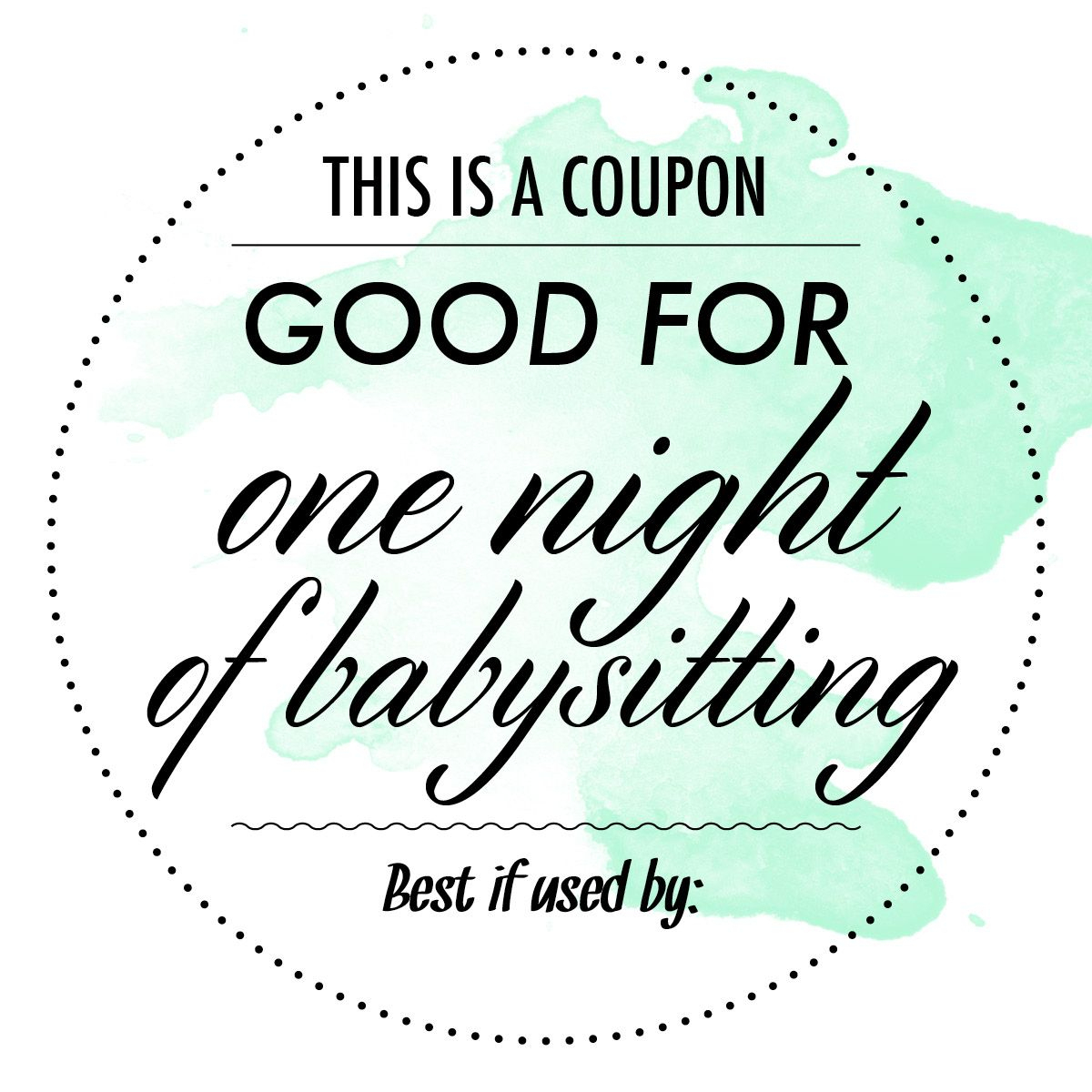 Free Babysitting Coupon - Google Search   Appreciation & Thinking Of - Free Printable Scoop Away Coupons