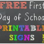 Free Back To School Printable Chalkboard Signs For First Day Of   First Day Of Second Grade Free Printable Sign
