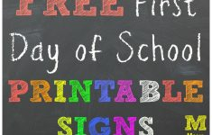 First Day Of Second Grade Free Printable Sign