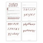 Free Basic Brush Pen Calligraphy Worksheet – The Postman's Knock   Free Printable Calligraphy Worksheets