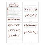Free Basic Brush Pen Calligraphy Worksheet – The Postman's Knock   Free Printable Calligraphy Worksheets