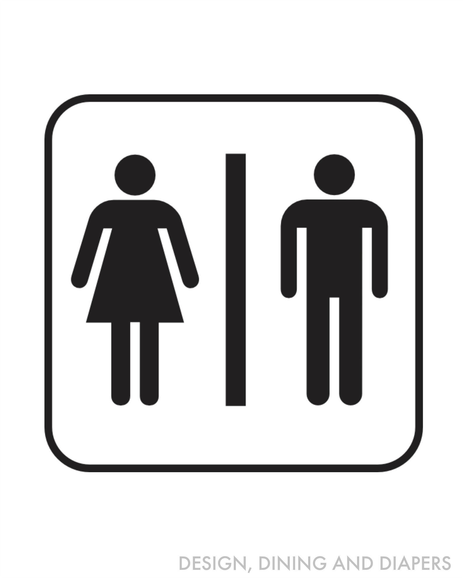 Free Bathroom Printables   Bathroom   Pinterest   Bathroom Door Sign - Free Printable Do Not Flush Signs