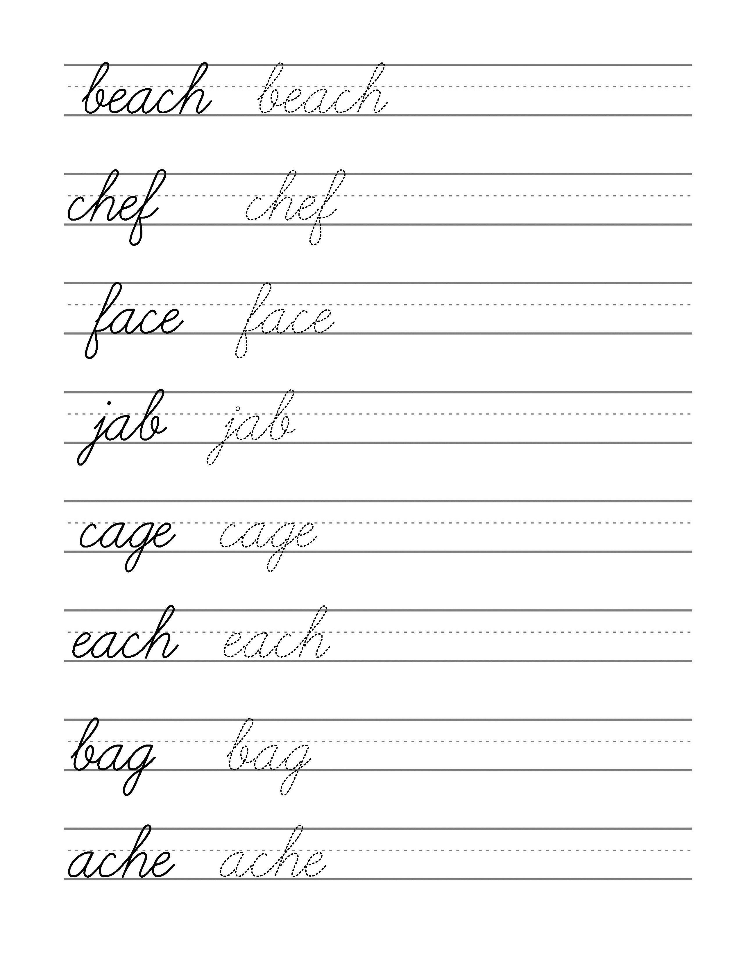 Free Beginning Cursive - Writing Template Part 3 | Writing - Free Printable Cursive Writing Paragraphs