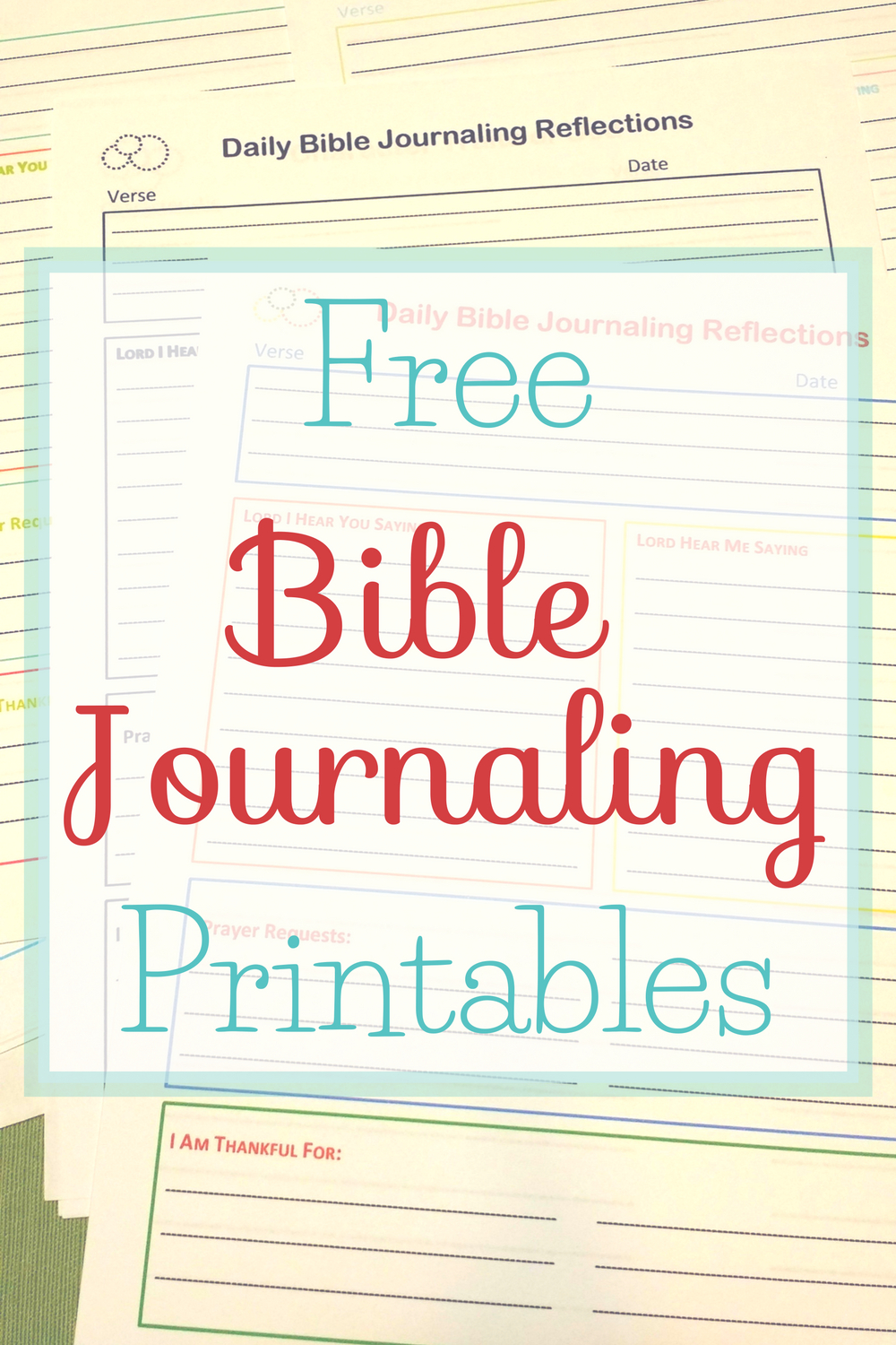 Free Bible Journaling Printables • The Littlest Way - Free Printable Bible Study Journal Pages