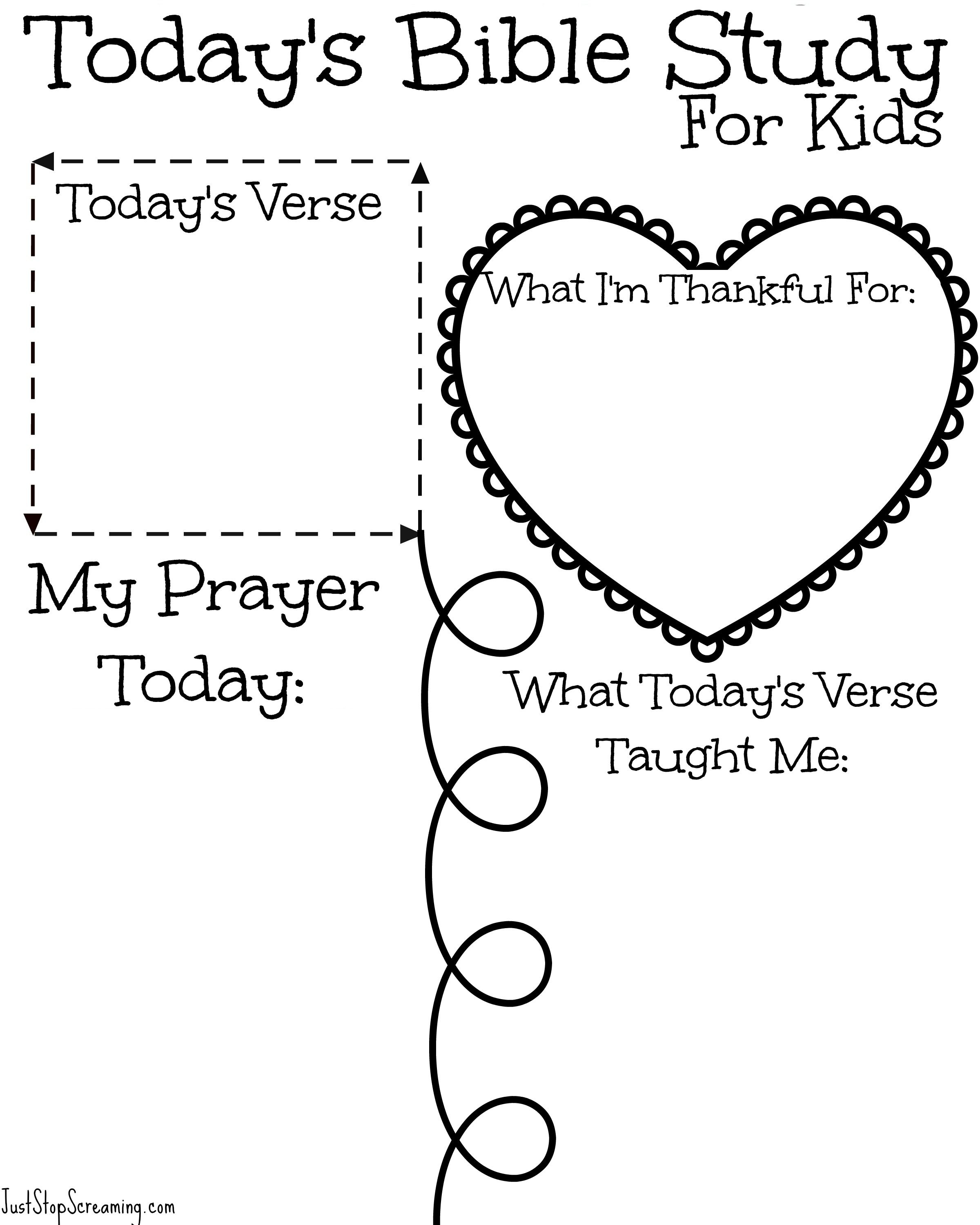 Free Bible Study Printable For Adults And Kids | Bullet Journal - Free Printable Sunday School Lessons For Youth