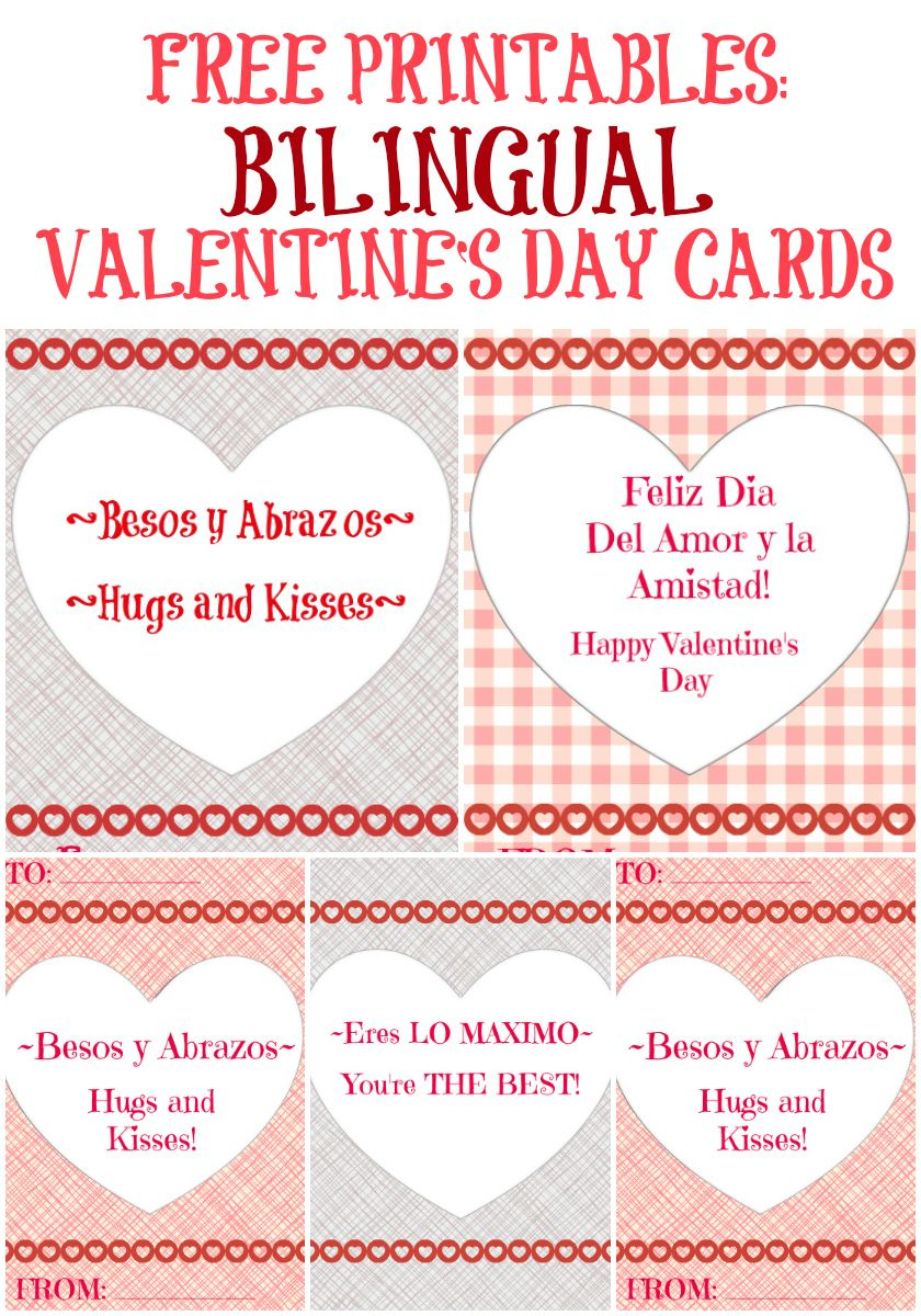 Free Bilingual Valentine's Day Cards! | Art/music/spanish/science - Free Spanish Mothers Day Cards Printable