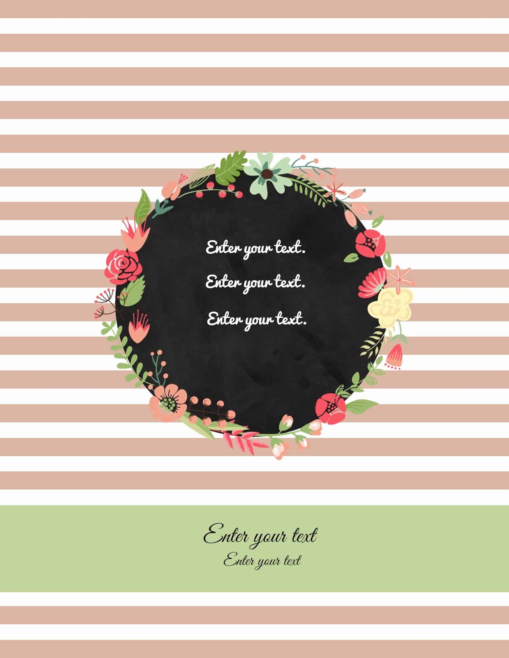 Free Binder Cover Templates | Customize Online & Print At Home | Free! - Free Printable Binder Covers To Color