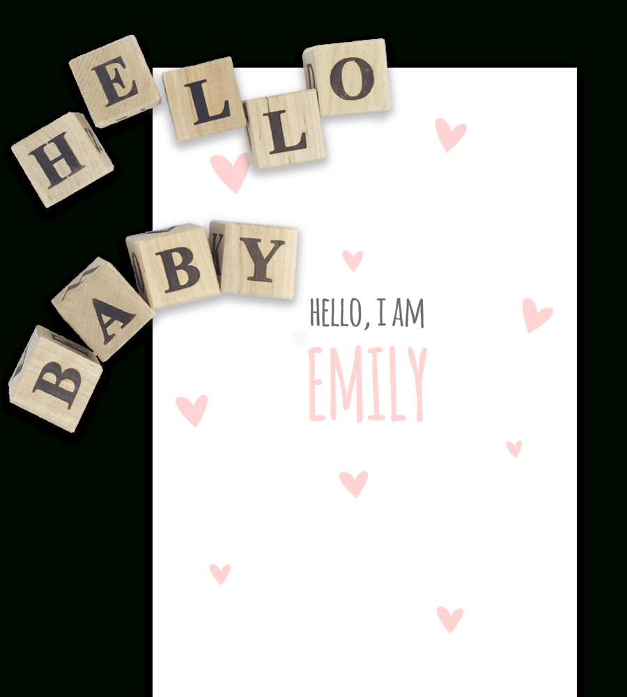 Free Birth Announcement Templates For Word   Temploola - Free Printable Baby Birth Announcement Cards