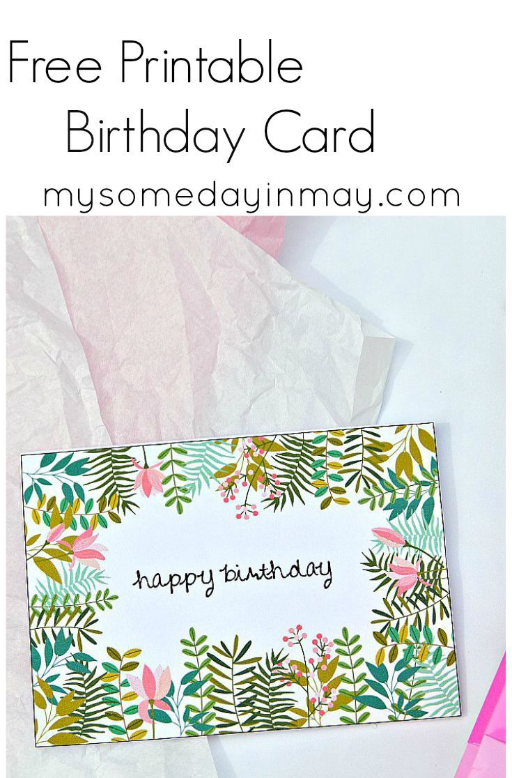 Free Birthday Card   Birthday Ideas   Free Printable Birthday Cards - Free Printable Birthday Cards For Her