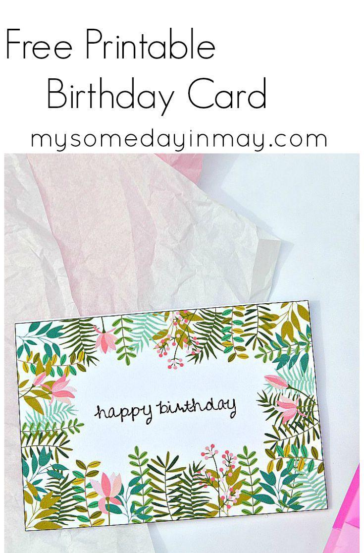Free Birthday Card | Birthday Ideas | Free Printable Birthday Cards - Free Printable Birthday Invitations Pinterest