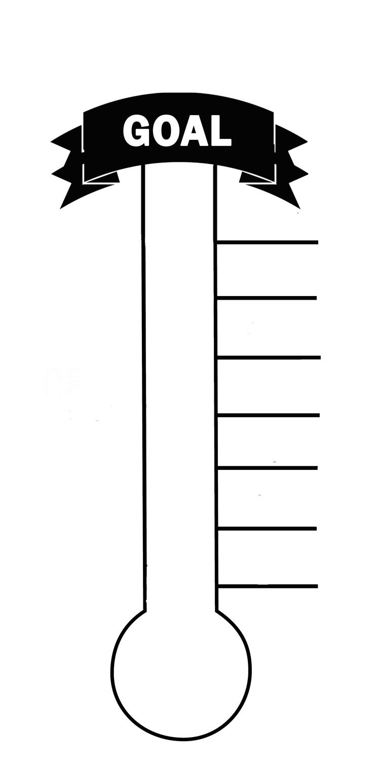 Free Blank Thermometer, Download Free Clip Art, Free Clip Art On - Free Printable Goal Thermometer Template