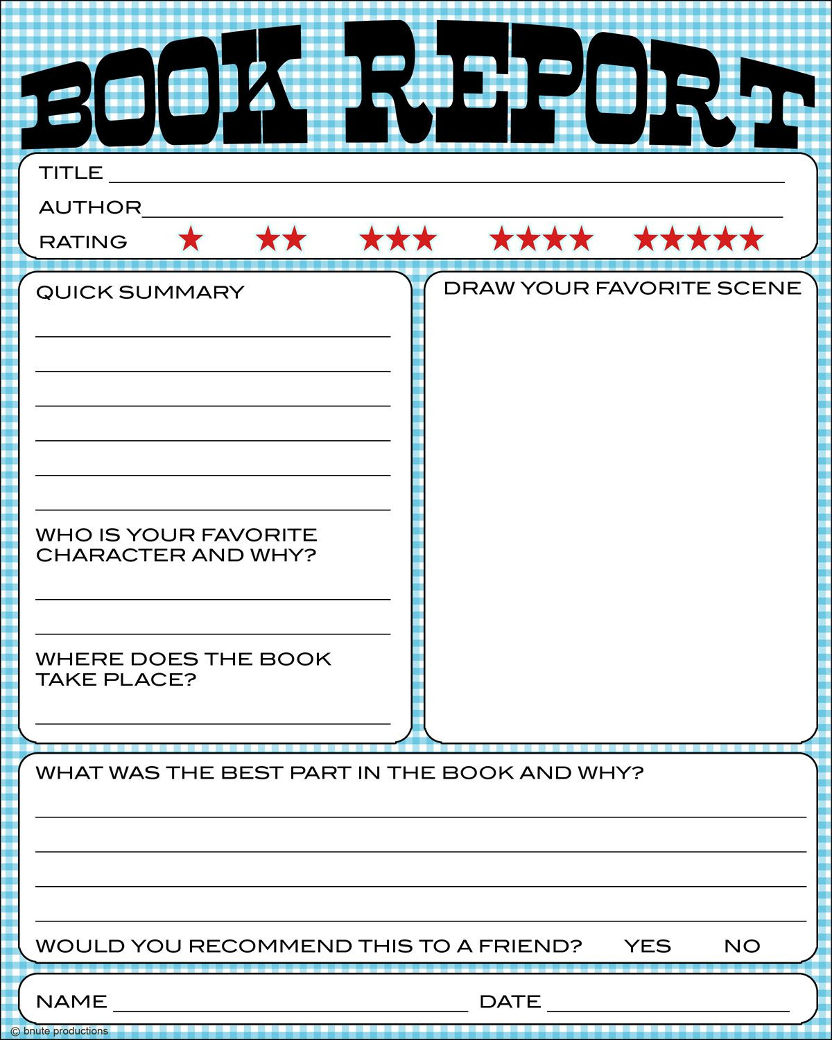 Free Book Report Printable - Great For Lower Primary Grades. It Also - Book Report Template Free Printable