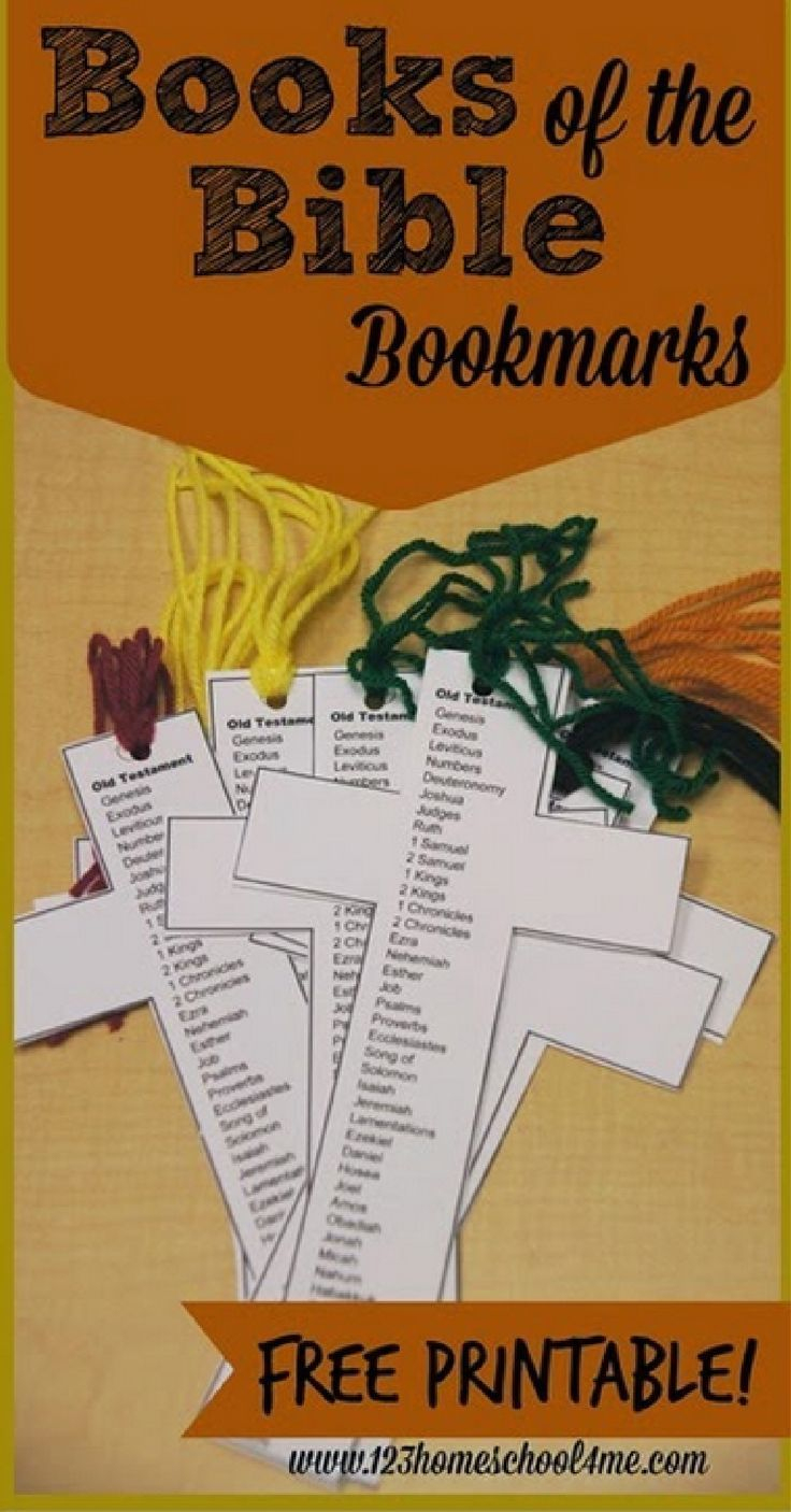 Free Books Of The Bible Bookmark   Children's Ministry Ideas - Books Of The Bible Bookmark Printable Free
