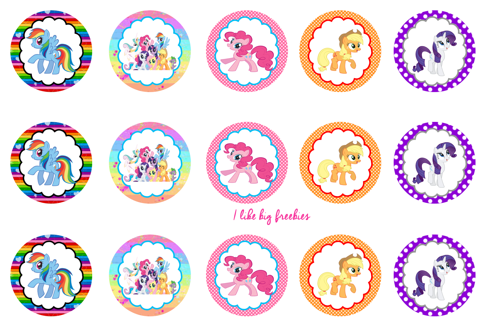 Free Bottle Cap Printables | My Little Pony Cupcake Ideas My Little - Free Printable My Little Pony Cupcake Toppers