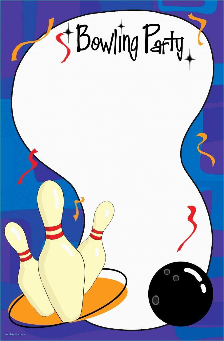 Free Printable Bowling Invitation Templates