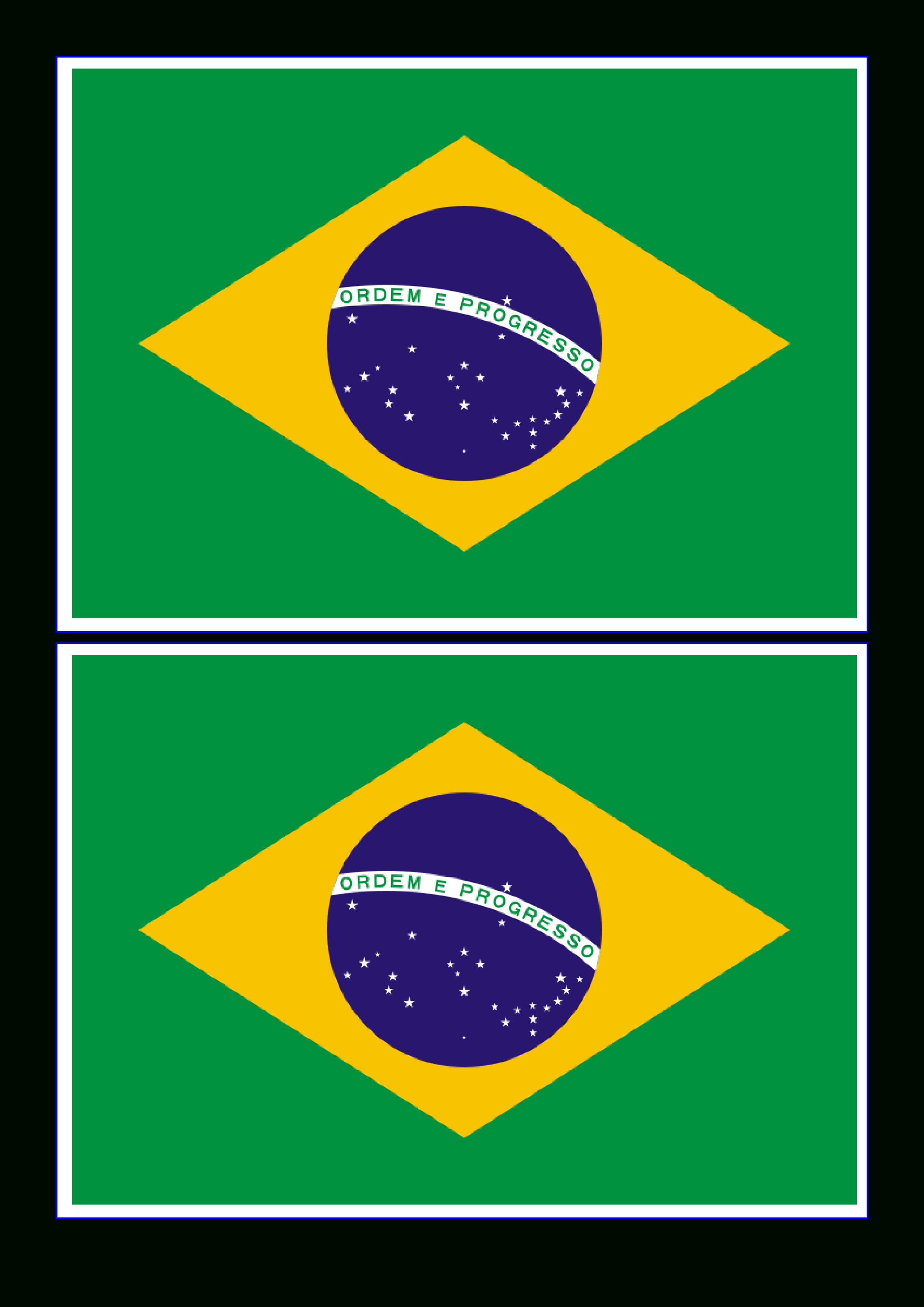 Free Brazil Flag   Templates At Allbusinesstemplates - Free Printable Brazil Flag