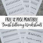 Free Brush Lettering Worksheets | Lettering | Pinterest | Brush   Free Printable Calligraphy Worksheets