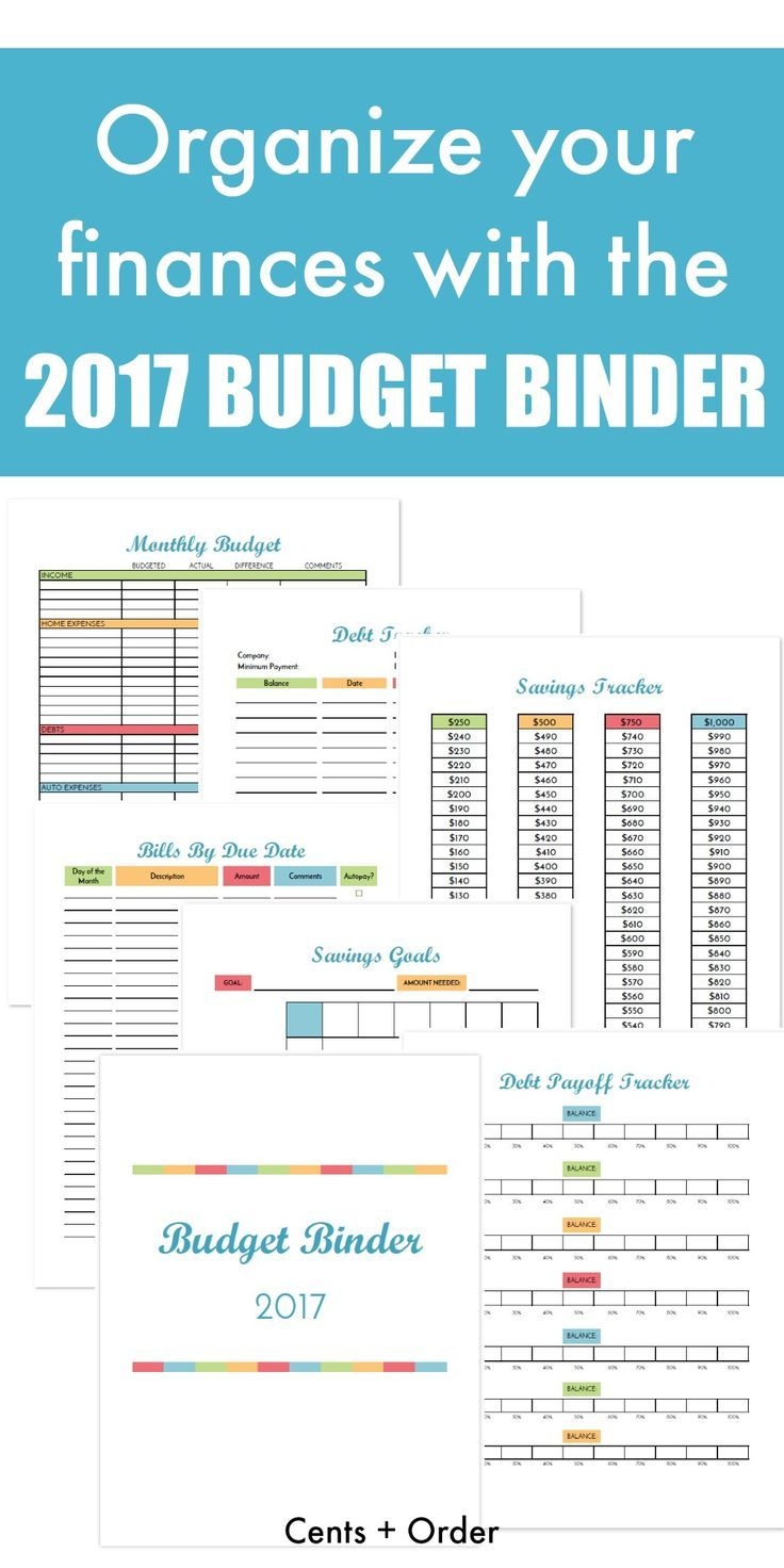 Free Budget Binder Printable: How To Organize Your Finances   Best - Free Printable Financial Planner 2017