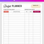 Free Budget Planner Printable   Printable Finance Planner | Office   Free Printable Budget Planner
