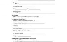 Rental Agreement Forms Free Printable