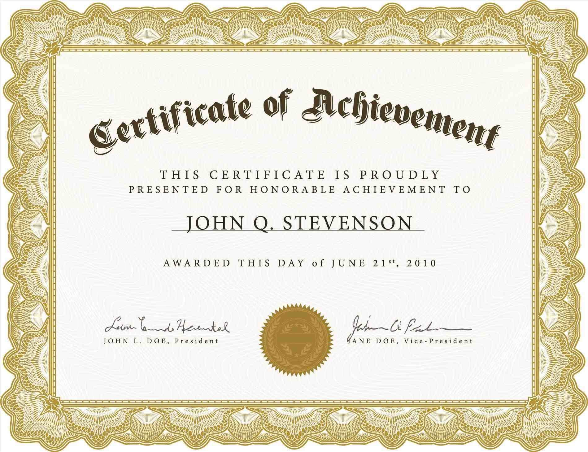 Free Certificate Templates For Word Printable Certificates Of - Free Printable Certificates Of Accomplishment