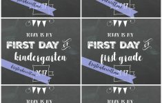 Free Chalkboard First Day Of School Printables – Kristen Hewitt – Free Printable First Day Of School Chalkboard Signs