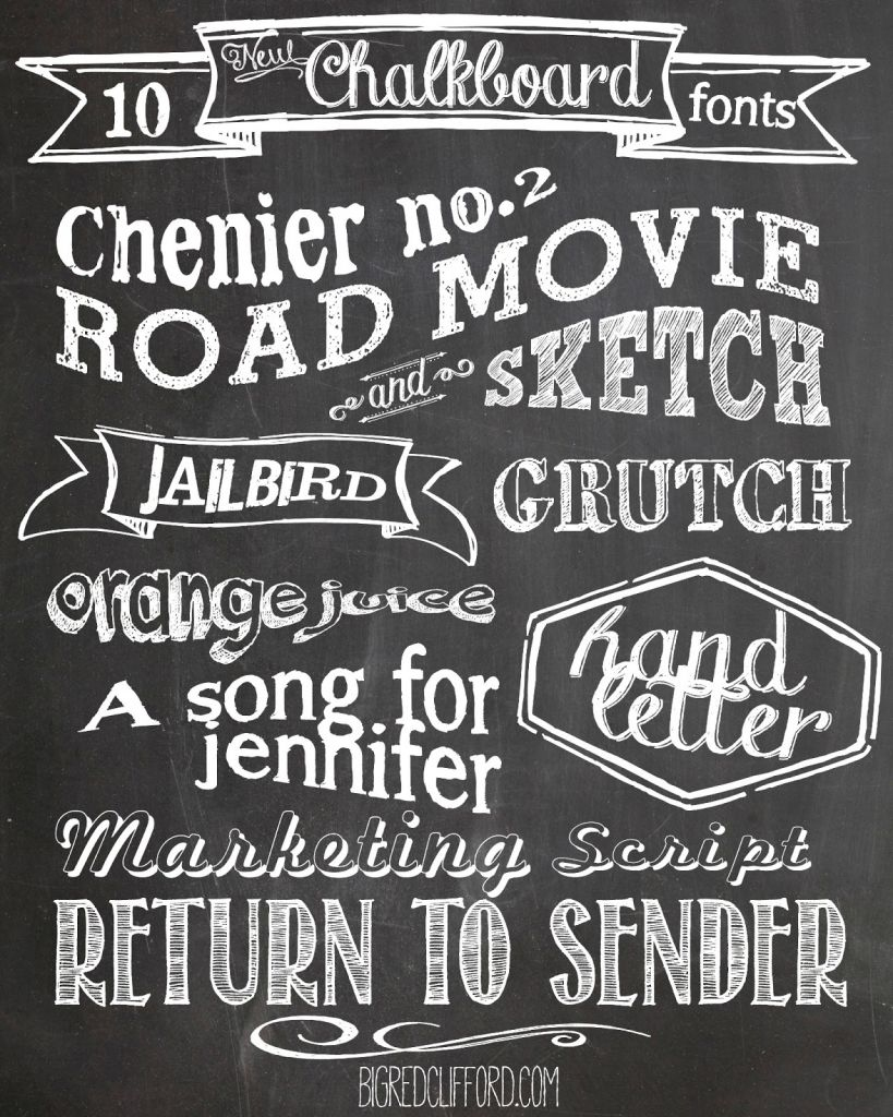 Free Chalkboard Fonts And Free Printable | Scrapbooking | Pinterest - Free Printable Fonts No Download
