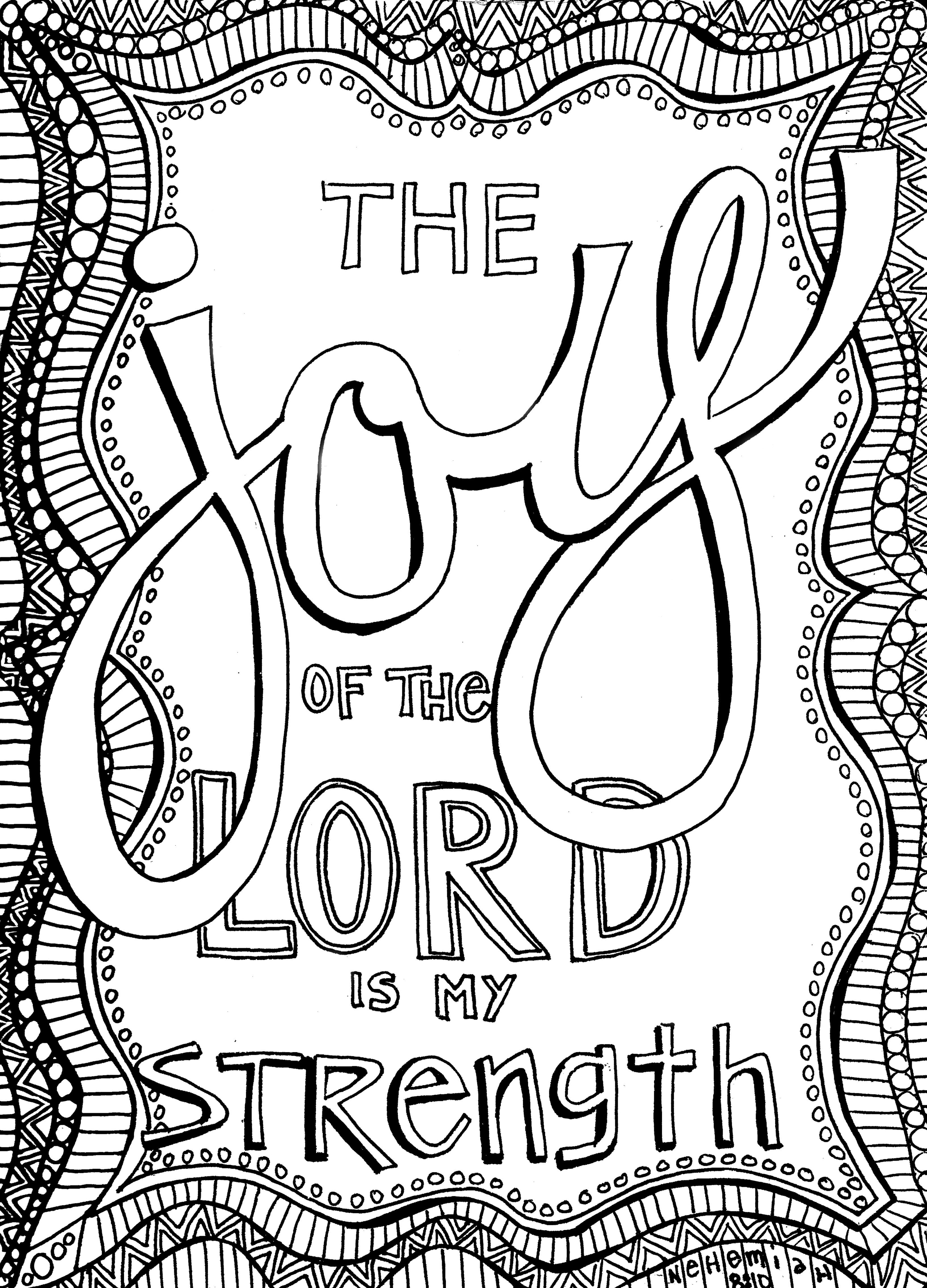 Free Christian Coloring Pages For Adults - Roundup - Joditt Designs - Free Printable Bible Coloring Pages With Verses