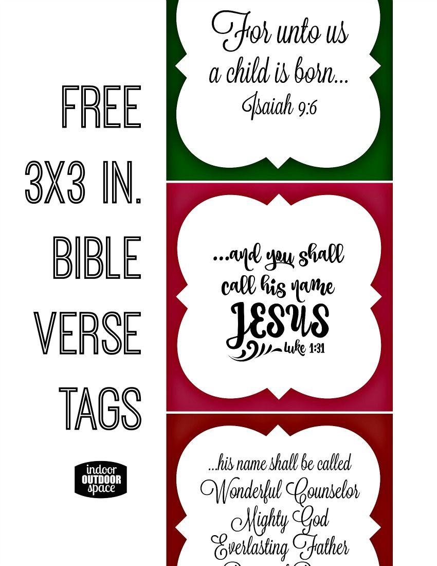Free Christmas Bible Verse Printable Tagsshalana   Digital - Free Printable Bible Verse Labels