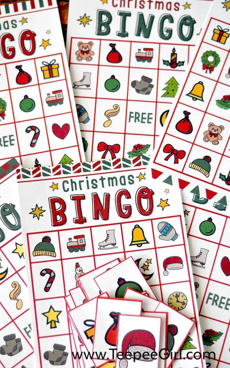 Free Christmas Bingo Game Printable - Free Printable Christmas Bingo Cards
