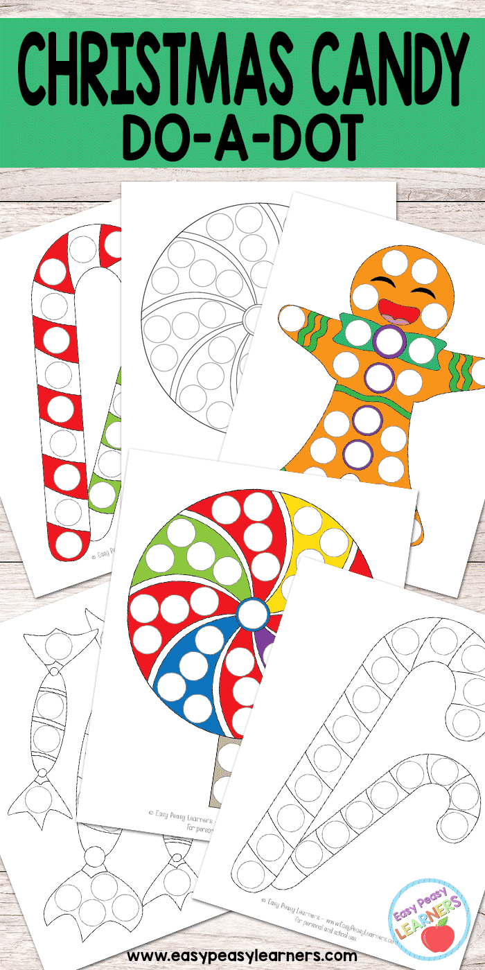 Free Christmas Candy Do A Dot Printables - Easy Peasy Learners - Do A Dot Art Pages Free Printable