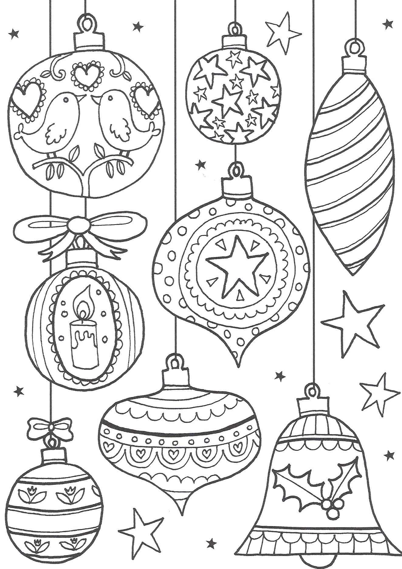 Free Christmas Colouring Pages For Adults – The Ultimate Roundup - Free Printable Christmas Ornament Coloring Pages