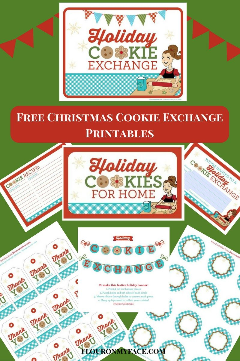 Free Christmas Cookie Exchange Printables - Flour On My Face - Free Christmas Cookie Exchange Printable Invitation
